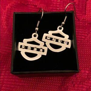 NEW🔥HD Rhinestone Shield Earrings